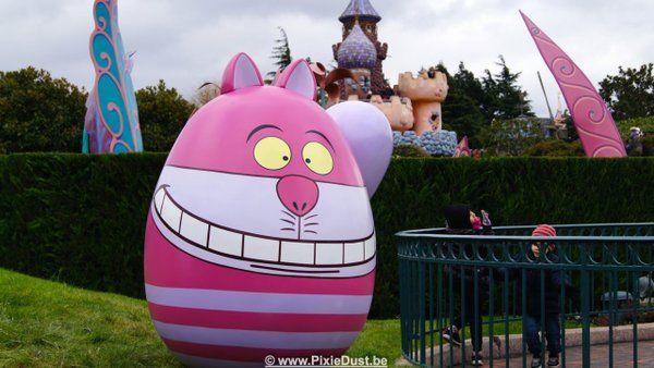 Cheshire Cat Easter Egg In Fantasyland Disneyland Paris Dlp Alice Wonderland 2016