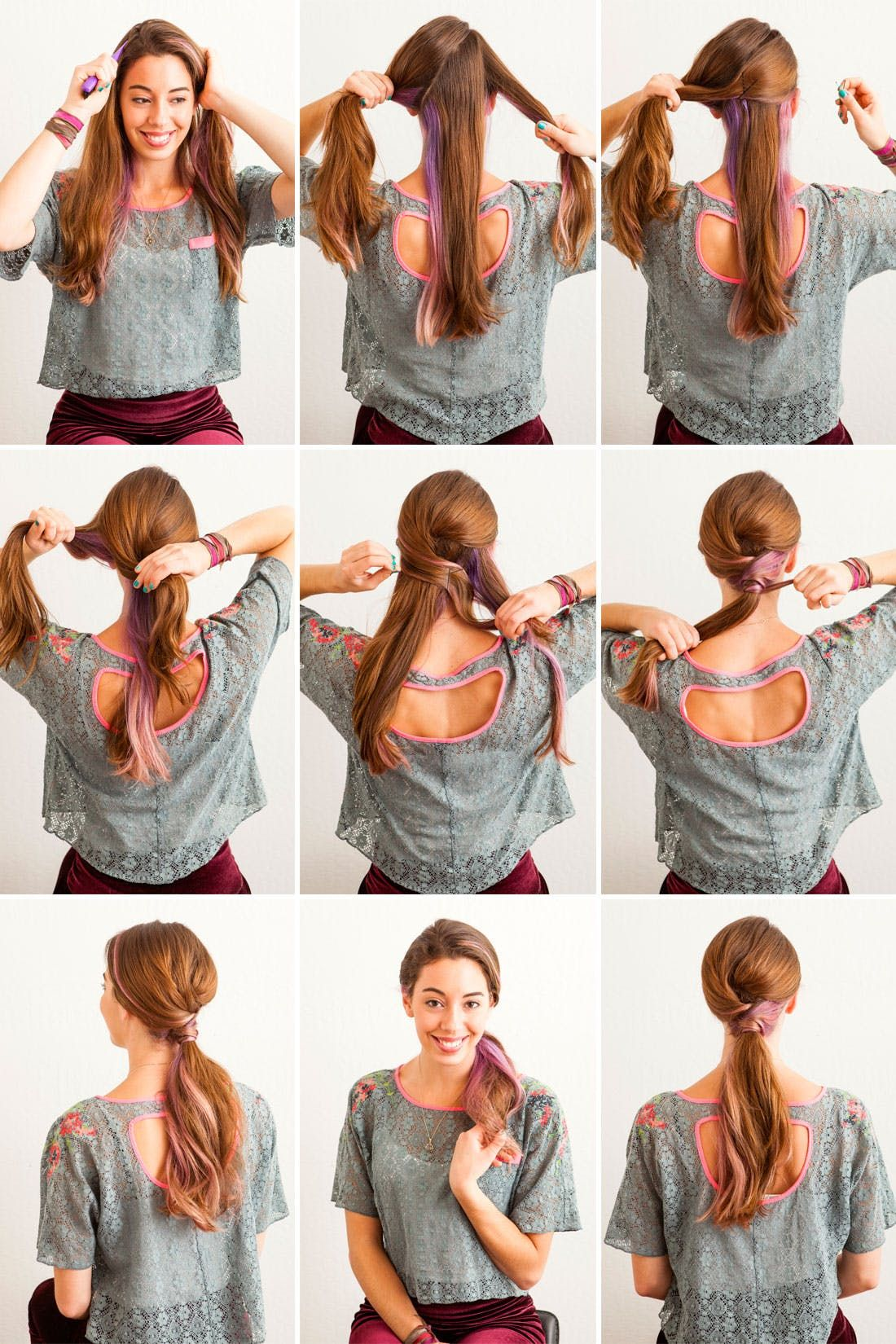 ways to fancy up your basic ponytail ponytail and fancy ponytail