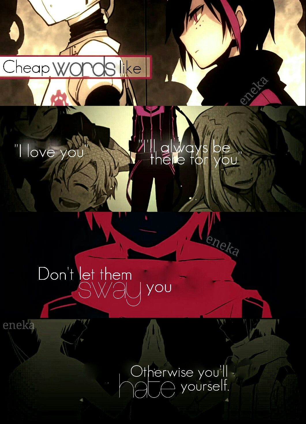 Sentimental Android Anime Quote Anime quotes Love