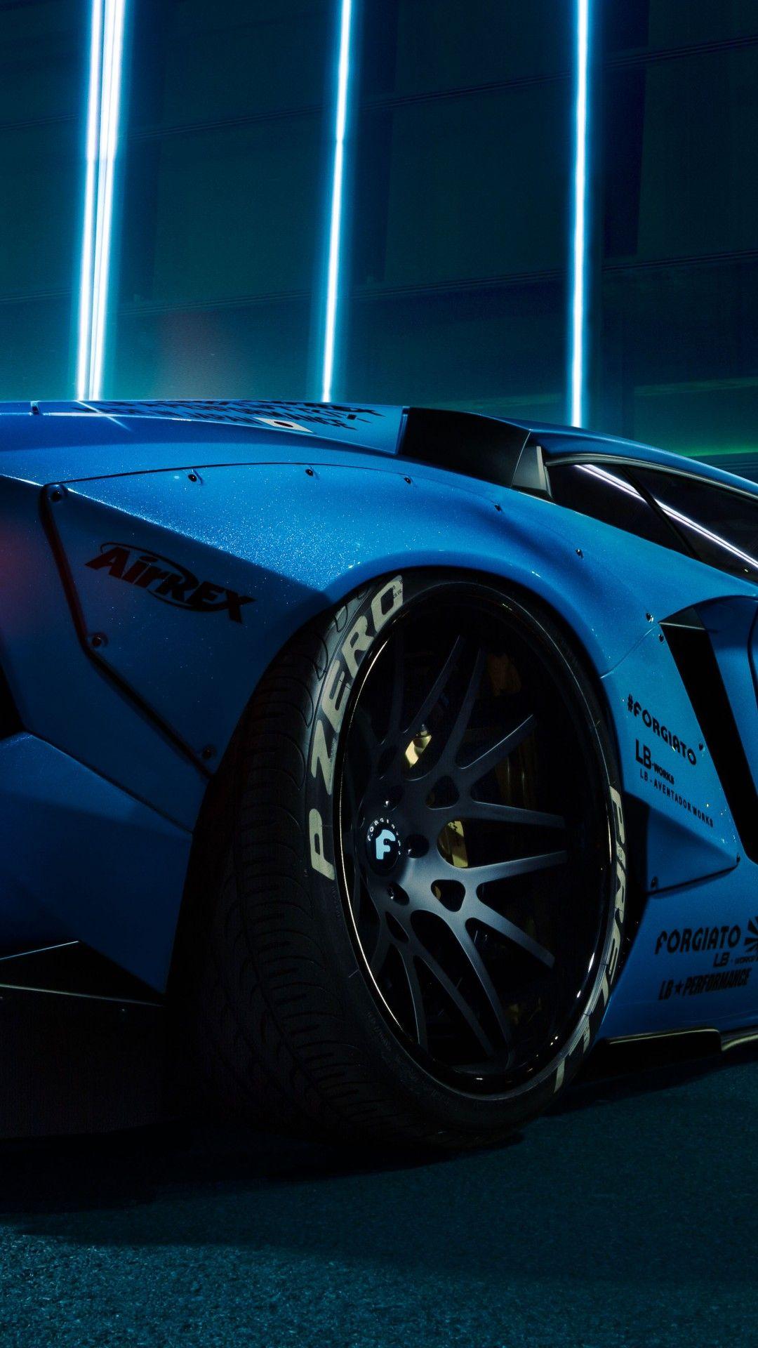 Free Lamborghini Aventador Lb Performance Body Kit Blue Desktop