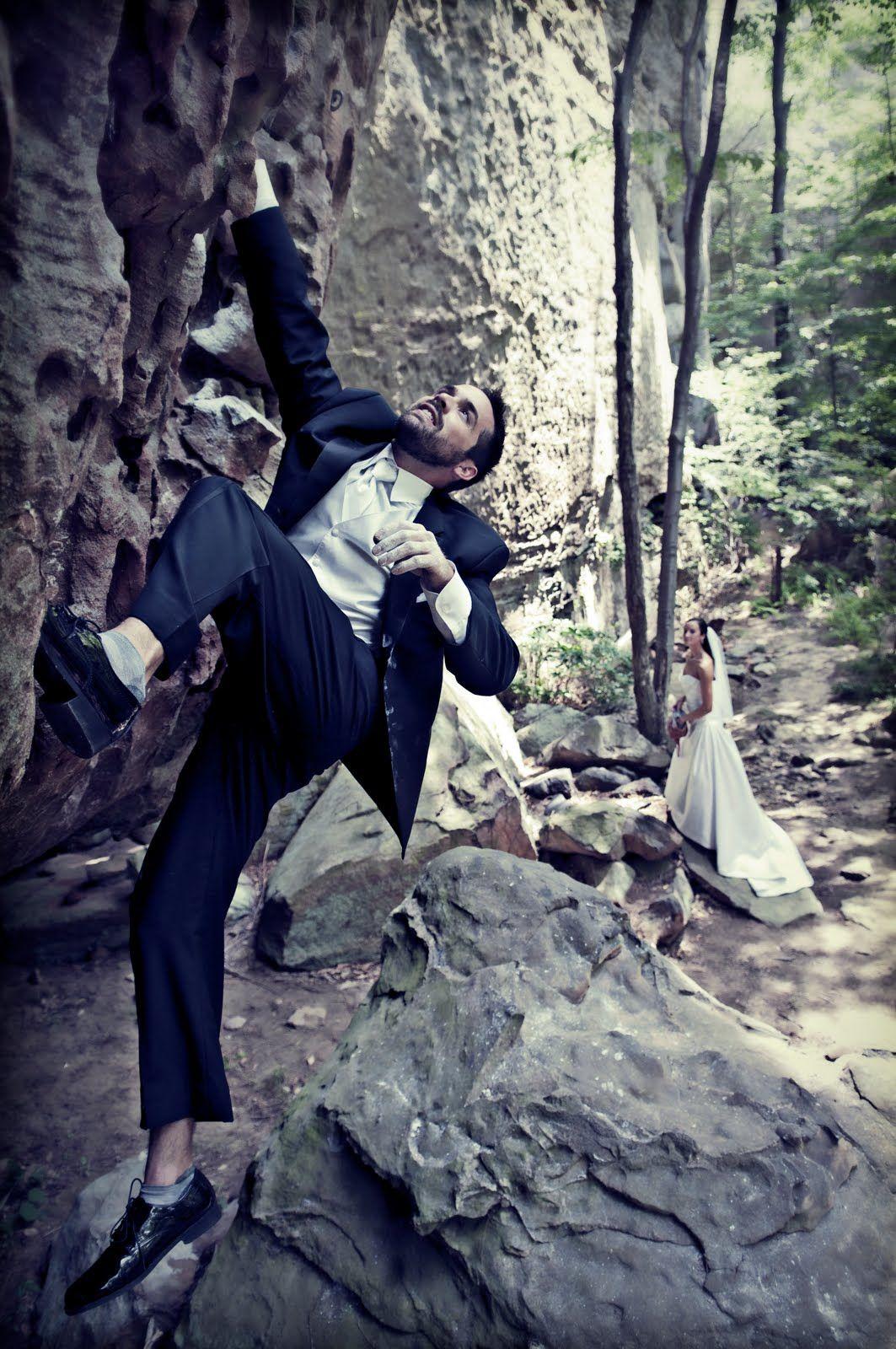 Outdoor wedding photos rock climbing wedding wedding shoot