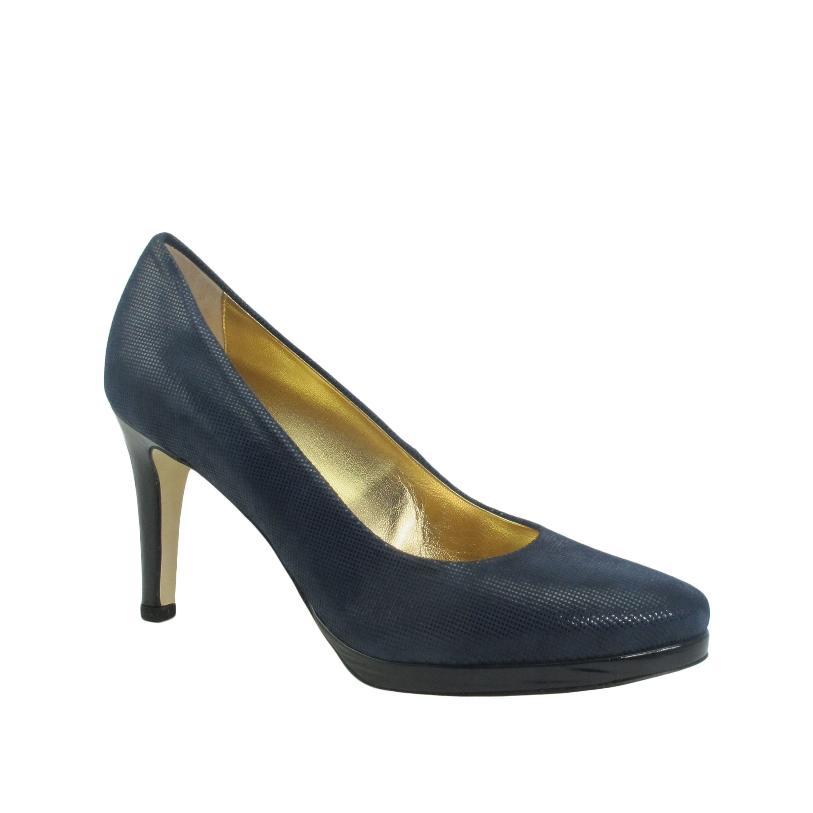 Ron White | Keira French Navy Suede Pump