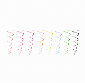 Móbile espiral colorido - 8 unidades