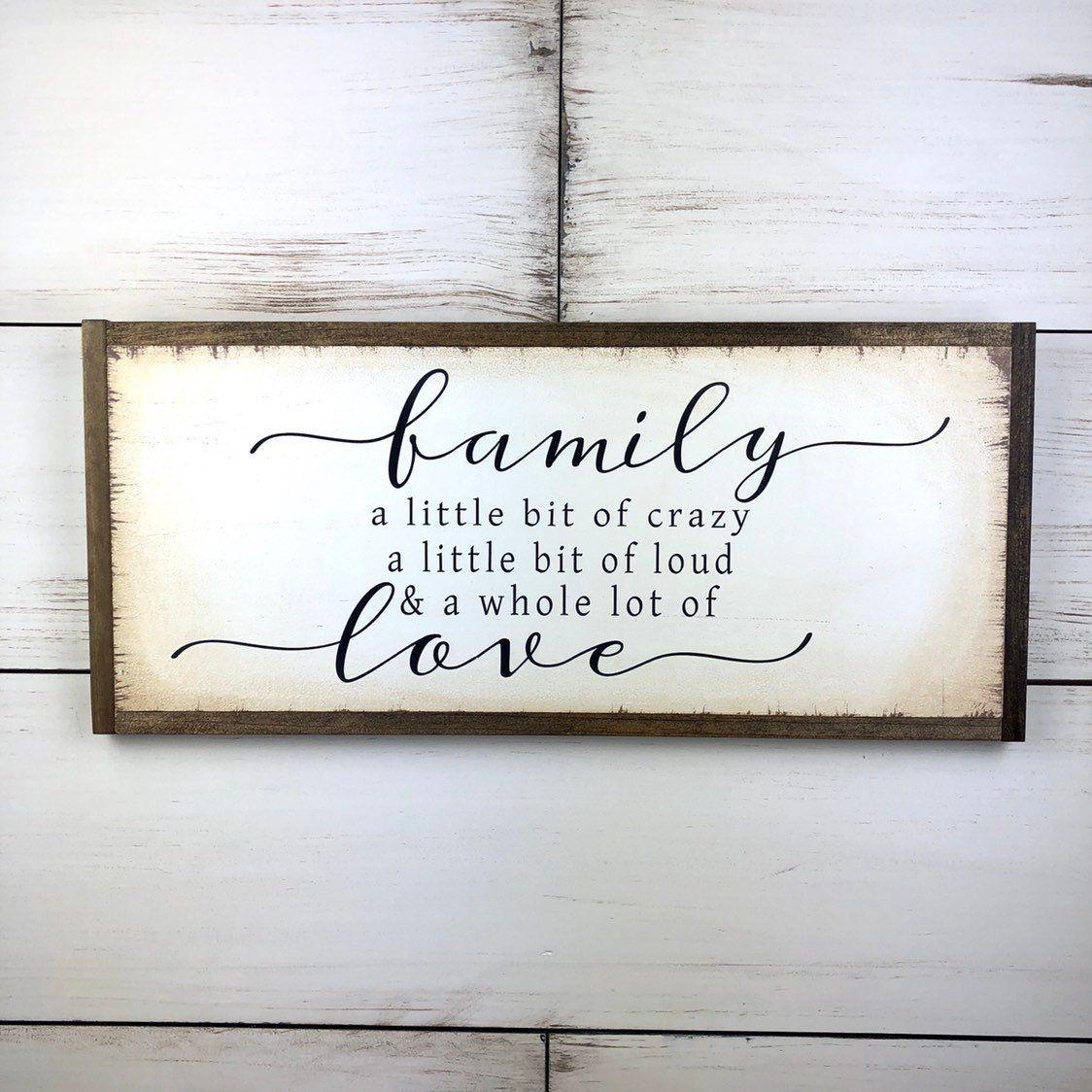 Family Sign Family Gift Family Wall Art Family Wood Sign Etsy Family Wood Signs Family Signs Family Wall Art