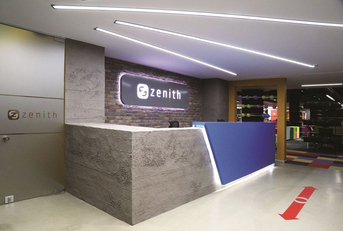 Zenith Barter S Istanbul Offices Reception Desk Design Office