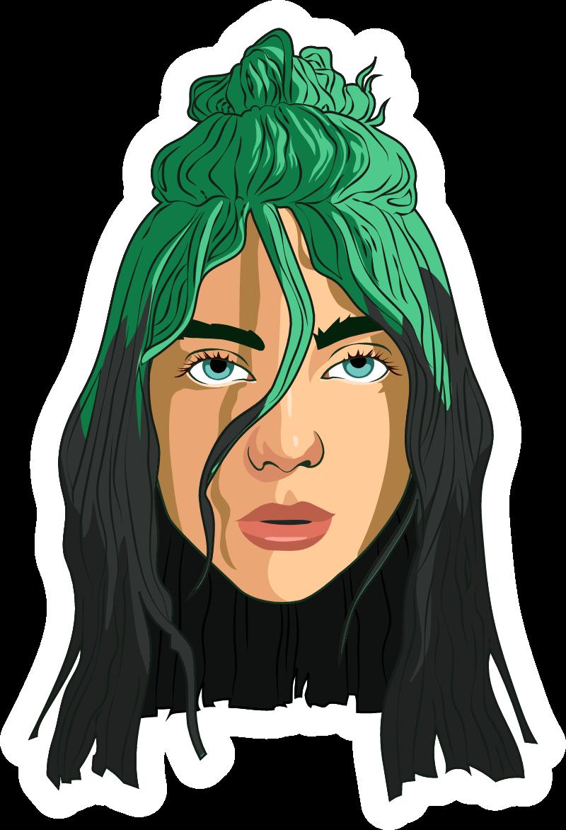 Billie Eilish Green Hair Billie Eilish Billie Green Hair