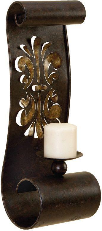 Benzara 56446 Artistically Designed Metal Candle Sconce