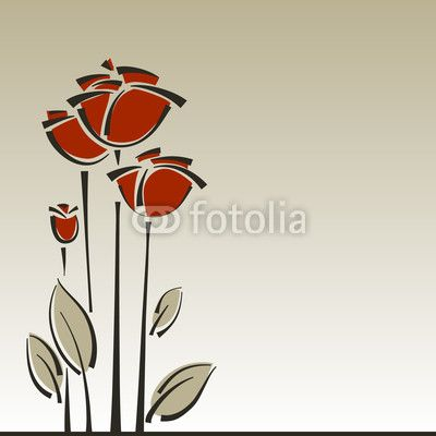 Vector: Vector roses floral stylish background