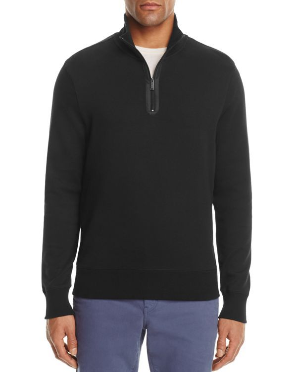 Michael Kors Tonal Trim Half-Zip Sweatshirt