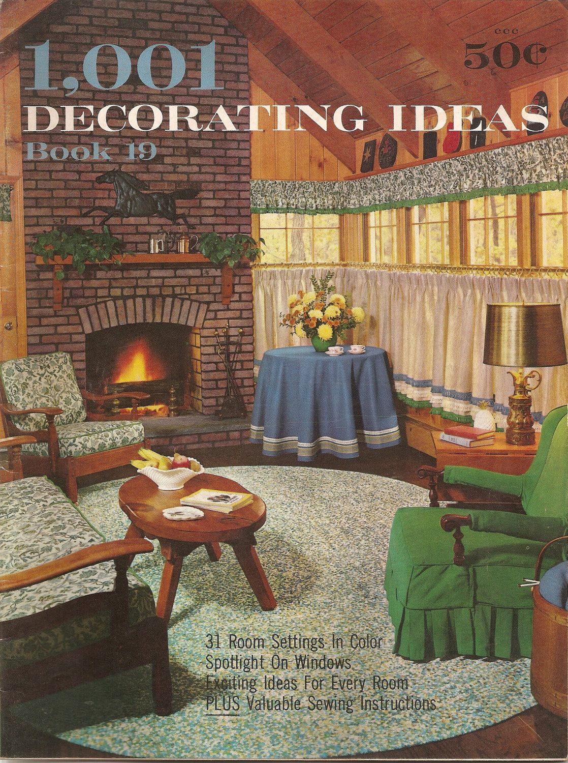 60s Home Decoration Booklet 1963 Vintage Consos 1001 Decorating Ideas Book 19 Retro Decor