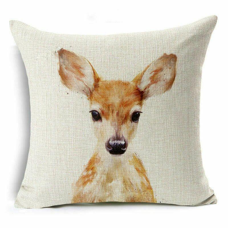 18x18Cute Animal Print Cotton Linen Pillow Case Cushion Cover Fashion Home Decor