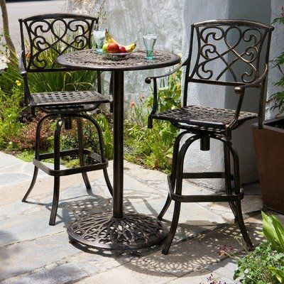 Santa Maria 3 Piece Bar Height Bistro Set By Nfusion 609 99