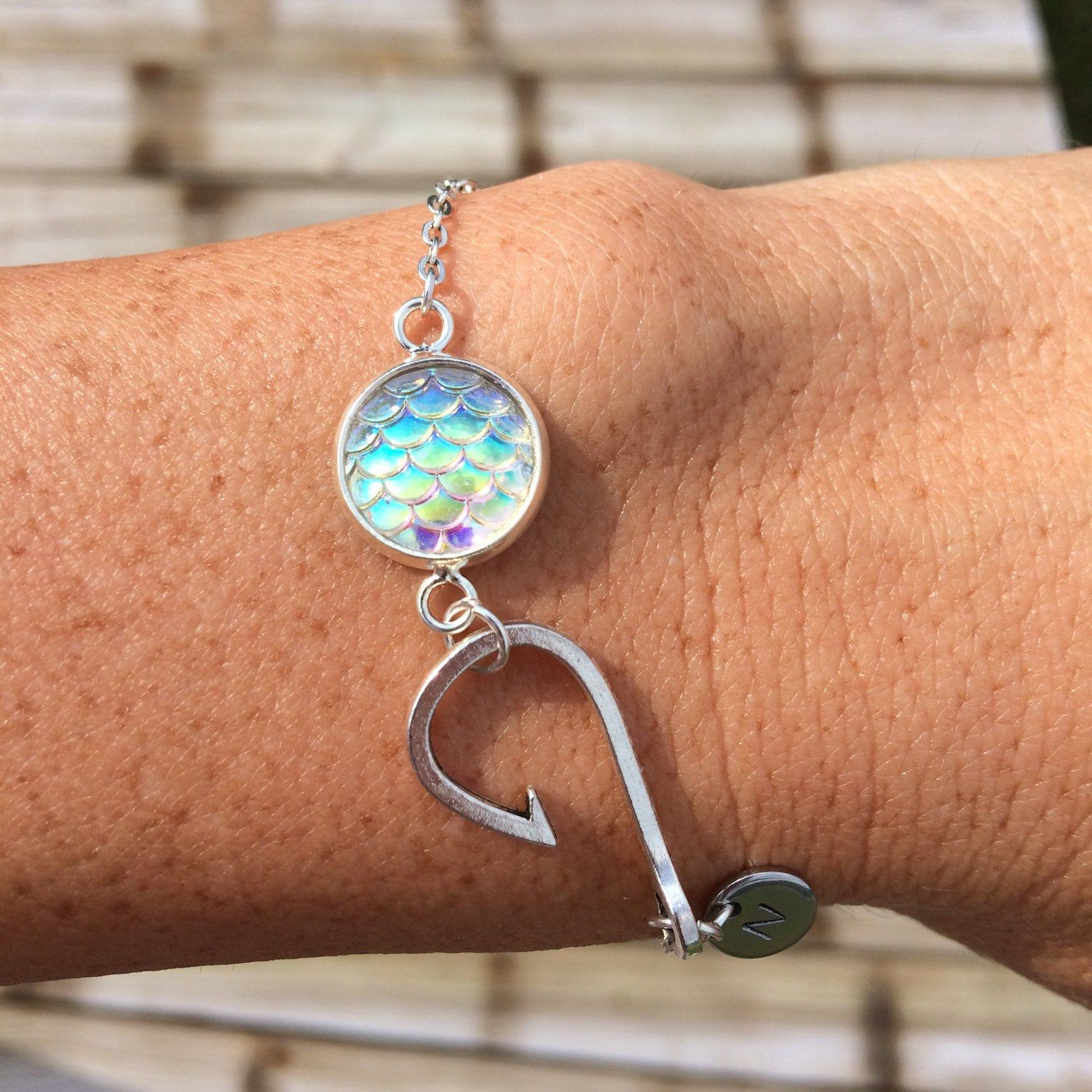 bracelet wm hook lahana s adjustable fish anklet code by thom