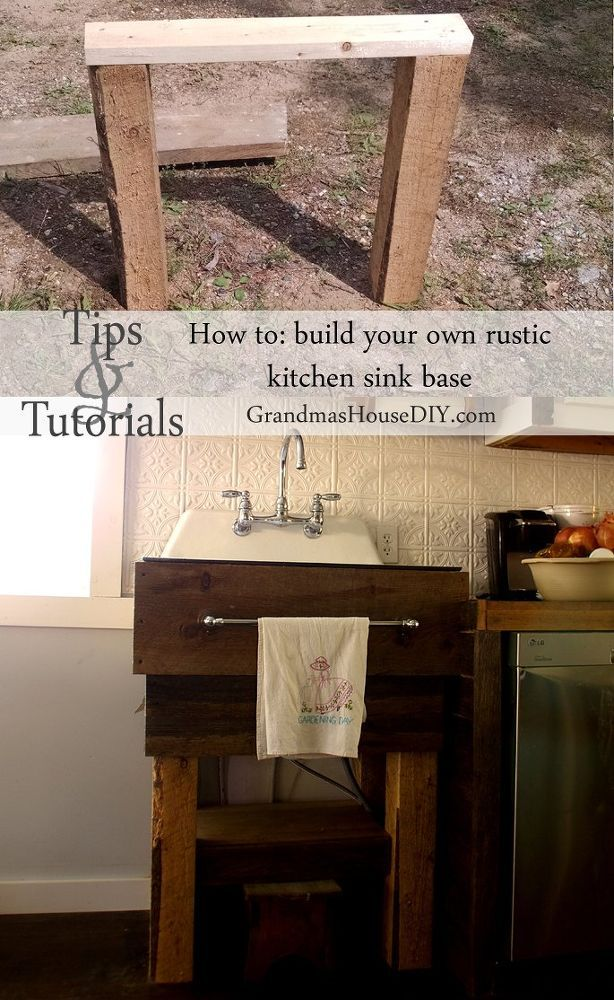How To Build Your Own Kitchen Sink Base Rustic Kitchen Sinks Kitchen Sink Remodel Building A Kitchen