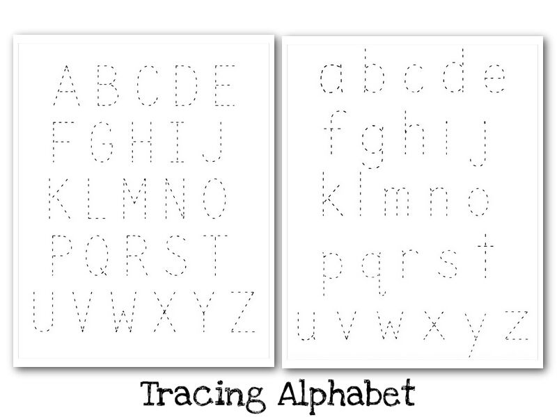 Printable Trace Letters Yourhelpfulelf – Free Alphabet Tracing Worksheets