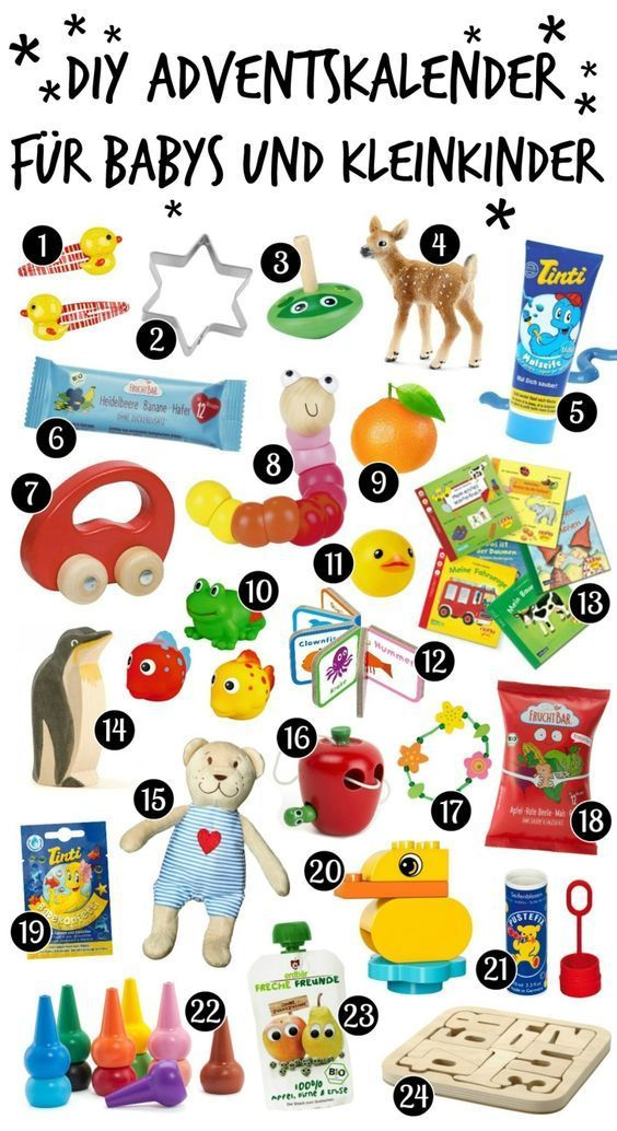 DIY Adventskalender für Babys und Kleinkinder selber machen - Anleitung und Ideen › Sparbaby.de