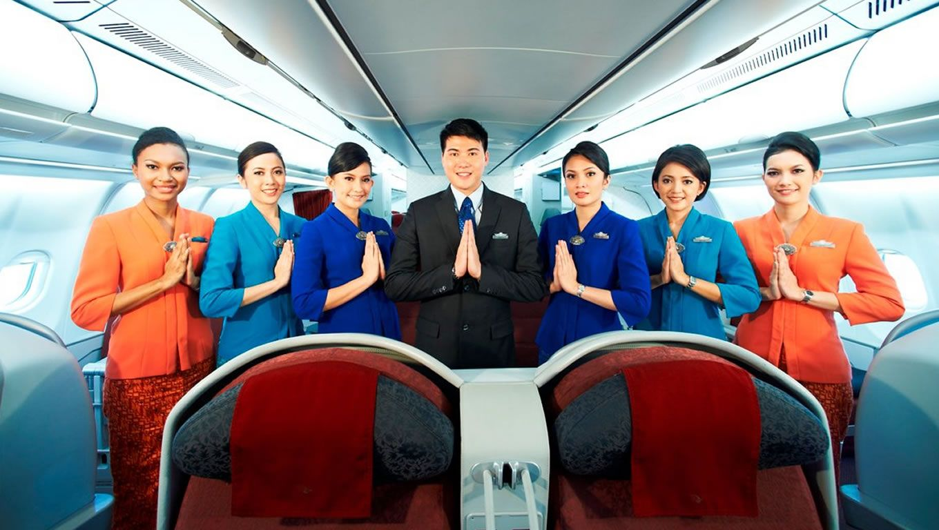 Garuda Indonesia Airlines Flight Attendants ガルーダ, インドネシア