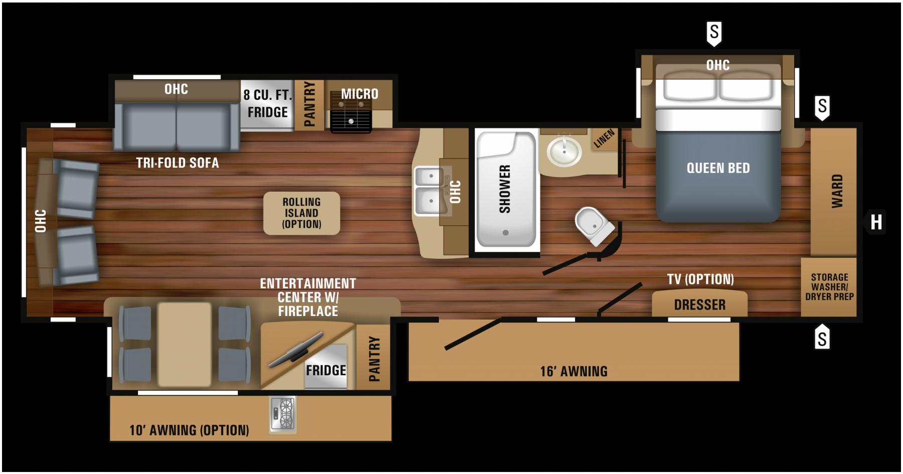 2018 Eagle Travel Trailer 320rlts Floorplan Koni Koniimproved Koniexperience Travel Trailer Floor Plans Travel Trailer Floor Plans