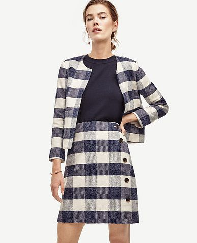 Image of Gingham Side Button Skirt | Gone Gingham CRAZY! | Pinterest ...