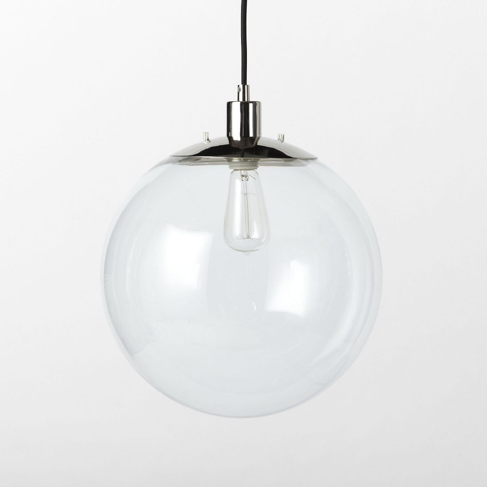 Globe ceiling lamp clear kitchen and garden seating dining
