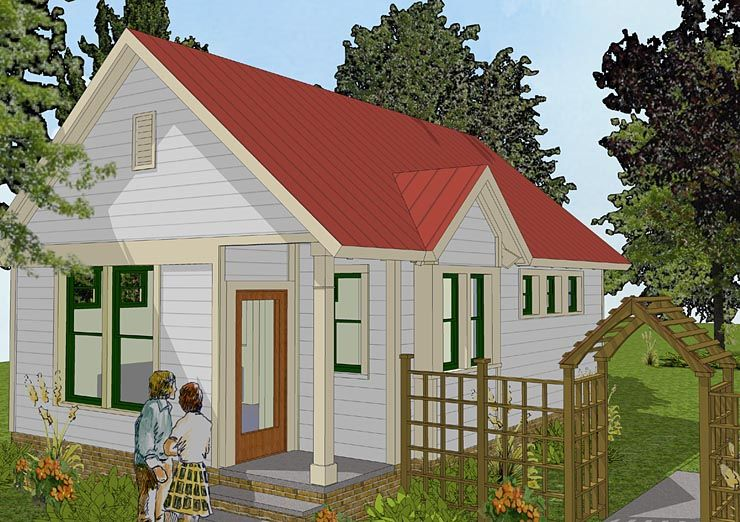 House Plan 56581 Bungalow Cabin Cottage Traditional Plan with 516