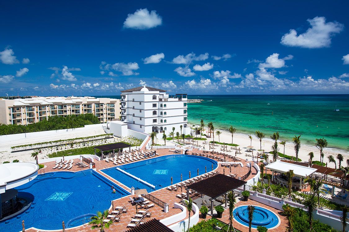 Grand Residences Riviera Cancun Hotel In Riviera Maya Cancun Oceanfront All Inclusive Infinity Pool Cancun Hotels Riviera Cancun Resort Dream Vacations