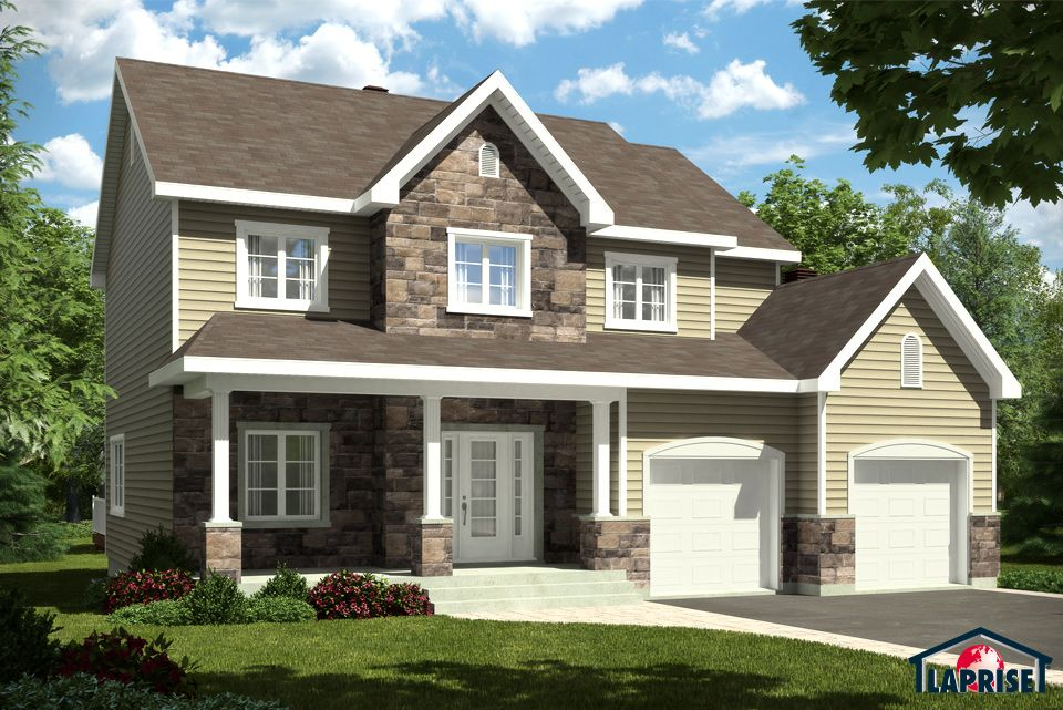 Champêtre LAP0346 Maison Laprise - Maisons pré-usinées faites - liste materiaux construction maison