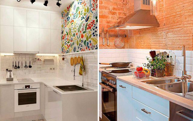 Revestimiento de frentes de cocina cocinas pinterest for Revestimiento cocina rustico