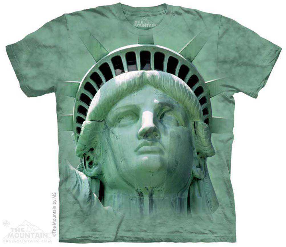 ba8e343248 Statue Of Liberty Shirt Tie Dye Adult T-Shirt Tee USA Patriotic ...