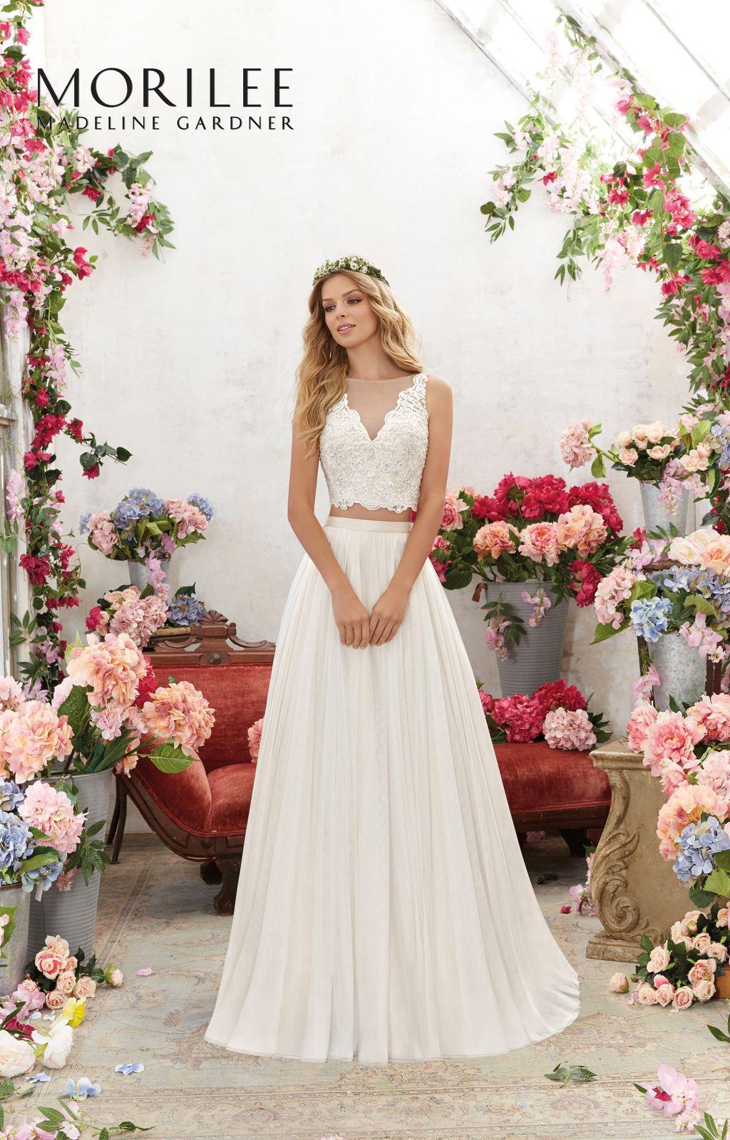 Dwuczęściowa Suknia ślubna Mori Lee W Stylu Boho Oddzielny