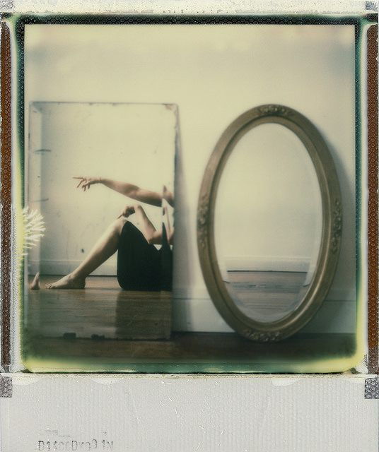 Shooting Film Creative Self Portrait With Mirror Polaroid Photography By Anne Locquen
