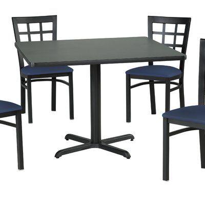 Merveilleux Premier Hospitality Furniture Dining Table Top Finish: Graphite Nebula