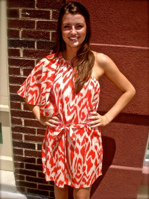Red ikat for football games!