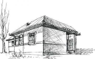 Fotos de casas para dibujar a lapiz planos y bocetos for Fachadas de casas modernas para colorear