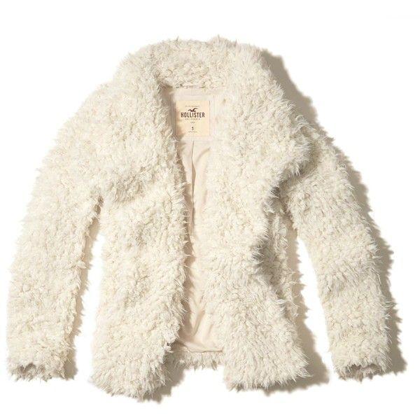 hollister faux fur jacket