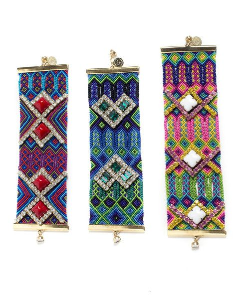 Details These Colorful Designer Friendship Bracelets Are Handwoven And Measure 2 Inches Wide One Of A Kind