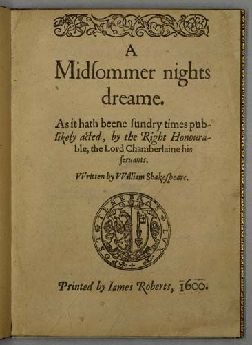 William shakespeare quartos a midsommer nights dreame 1600 king henry fandeluxe Images