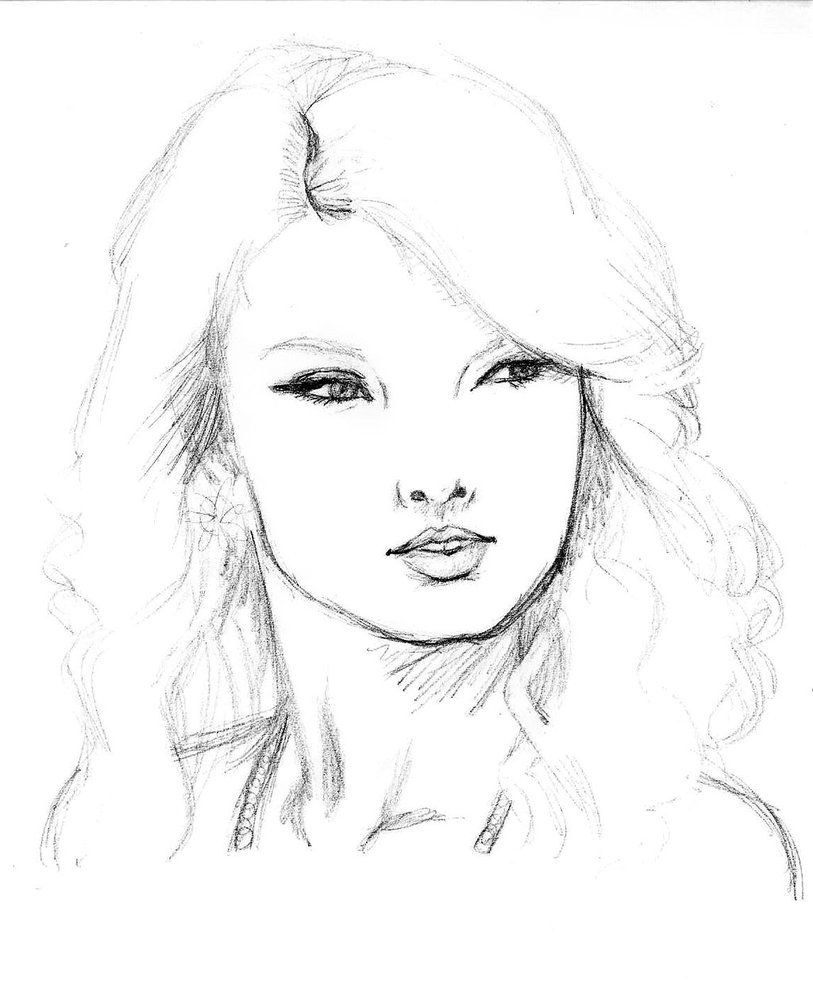 Taylor Swift - Sketch by Dariosuper | Simple People ...