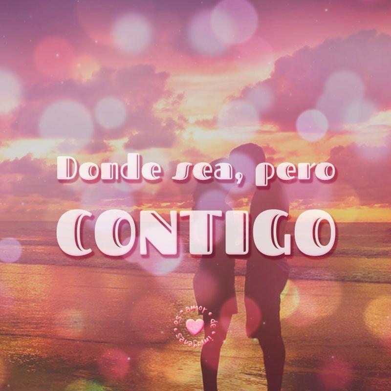 Bonitos Novios En La Playa Junto A Frase De Amor Corta Amor De