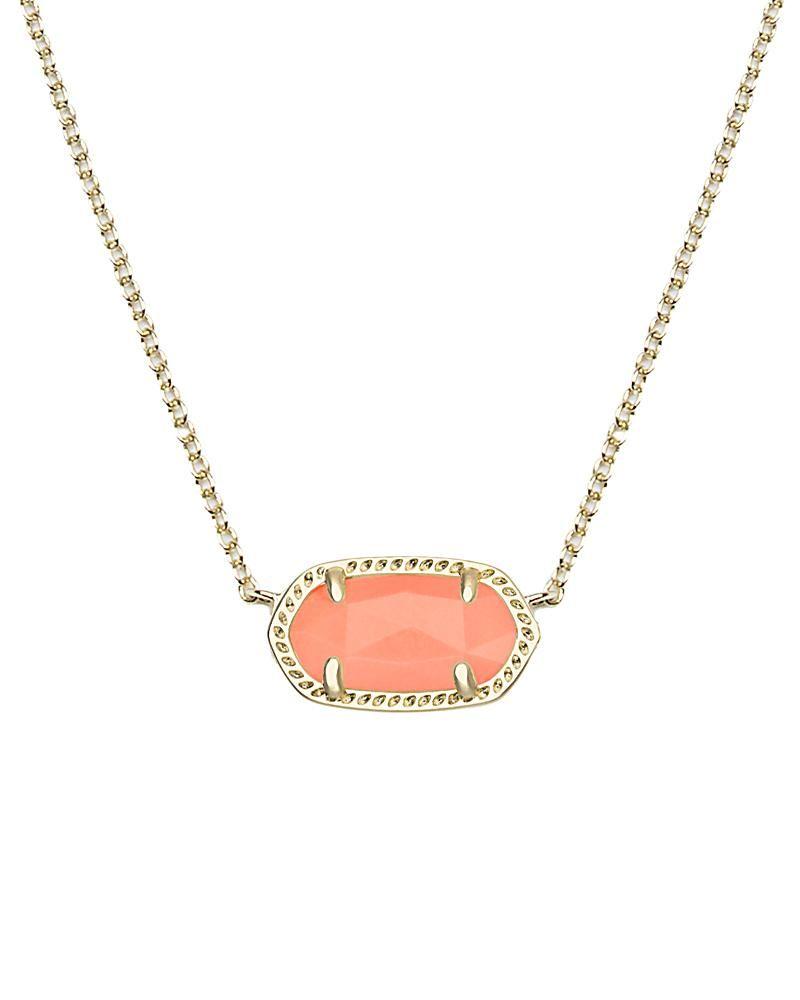 Elisa pendant necklace in coral kendra scott jewelry