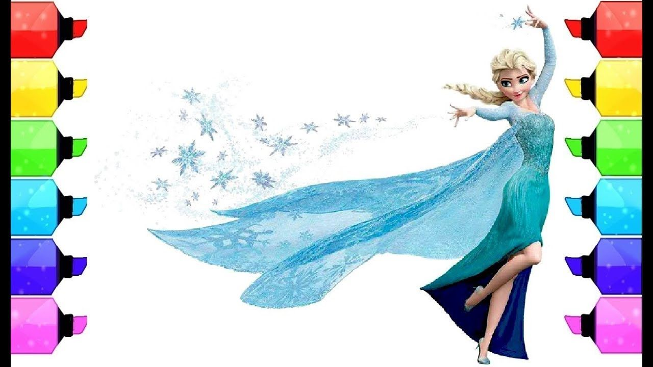 Colouring Pages Of Frozen Disney : Learn colors by coloring frozen elsa l frozen elsa coloring pages