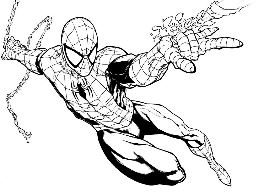 9T4bxo7bcjpg (841×613) 动漫 Pinterest Photoshop and Spiderman - fresh coloring pages printable avengers
