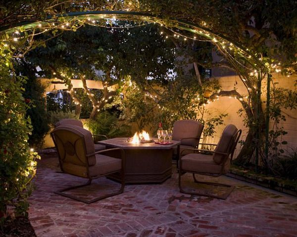 Backyard Deck Lighting Ideas To Select From Jpg 600 480 Backyard French Courtyard Backyard Lighting