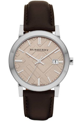 burberry men's leather watches