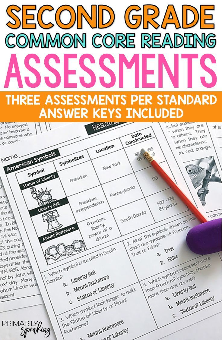 Reading Assessments For Second Grade Pinterest Reading