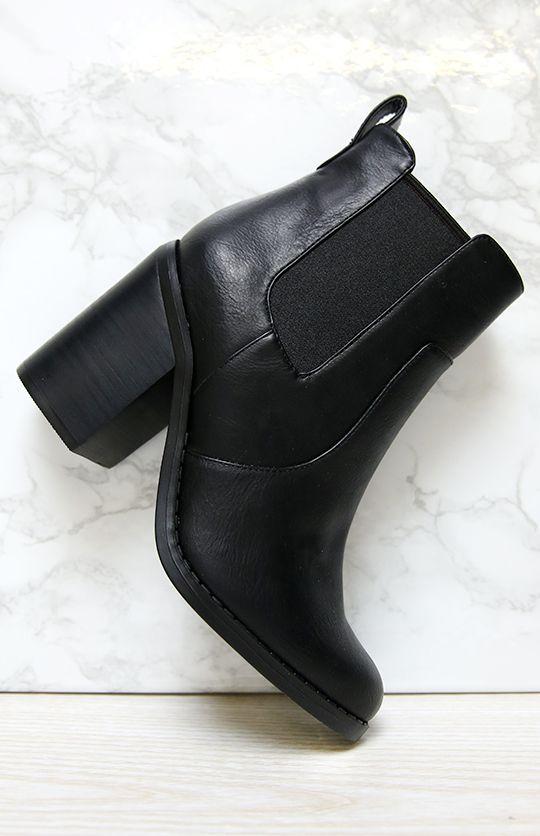Black · Lipstik Shoes - Noelle Boot ...