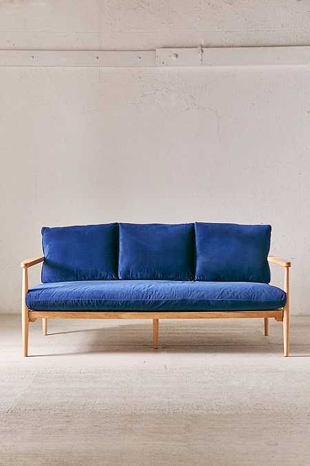 Minna Velvet Sofa Urban Outfitters