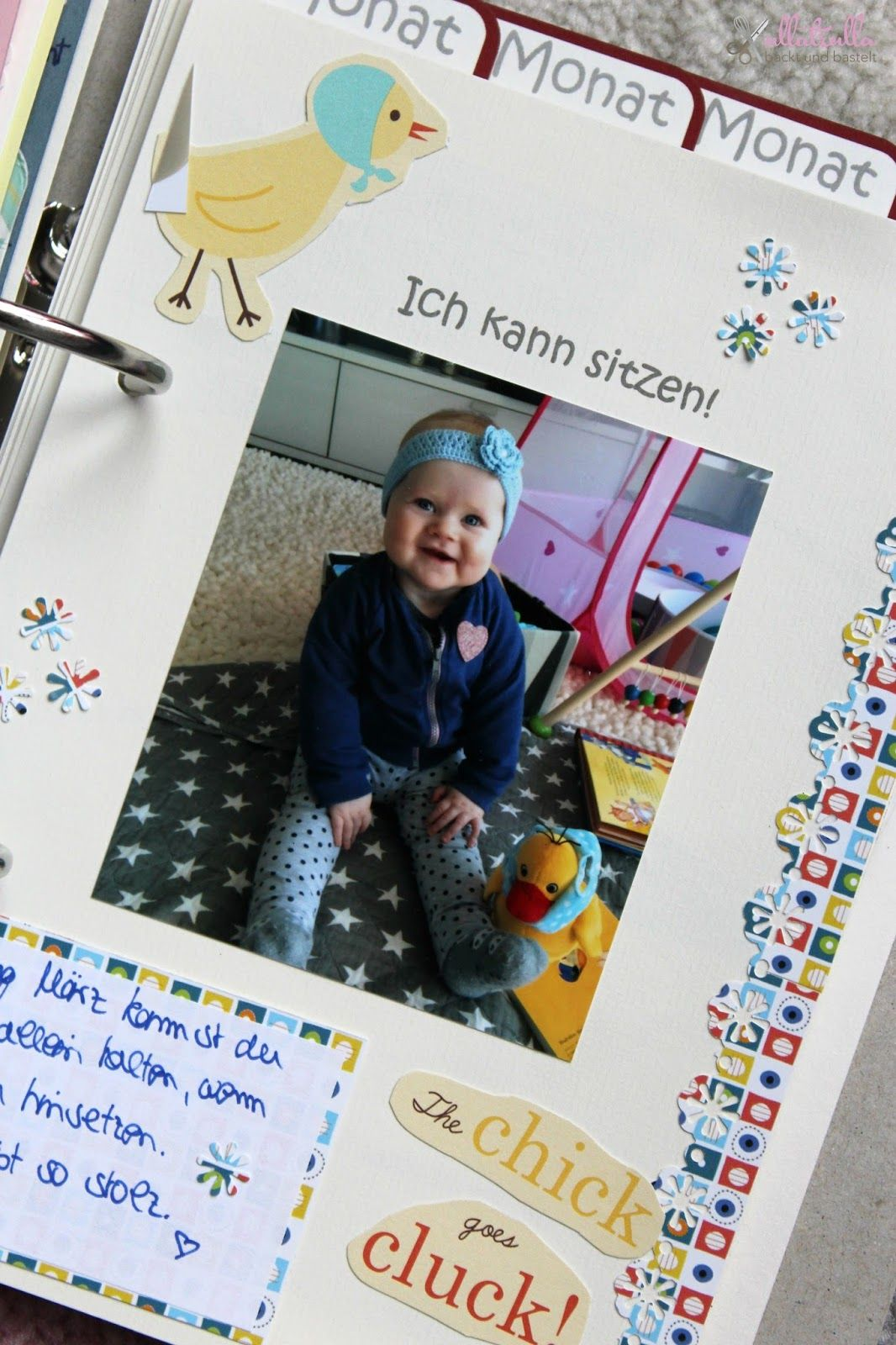 ullatrulla backt und bastelt: DIY Babyalbum selber gestalten + ...