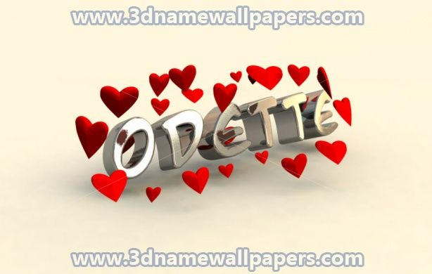 Preview Of In Love For Name Odette Name Wallpaper 3d Wallpaper Wallpaper