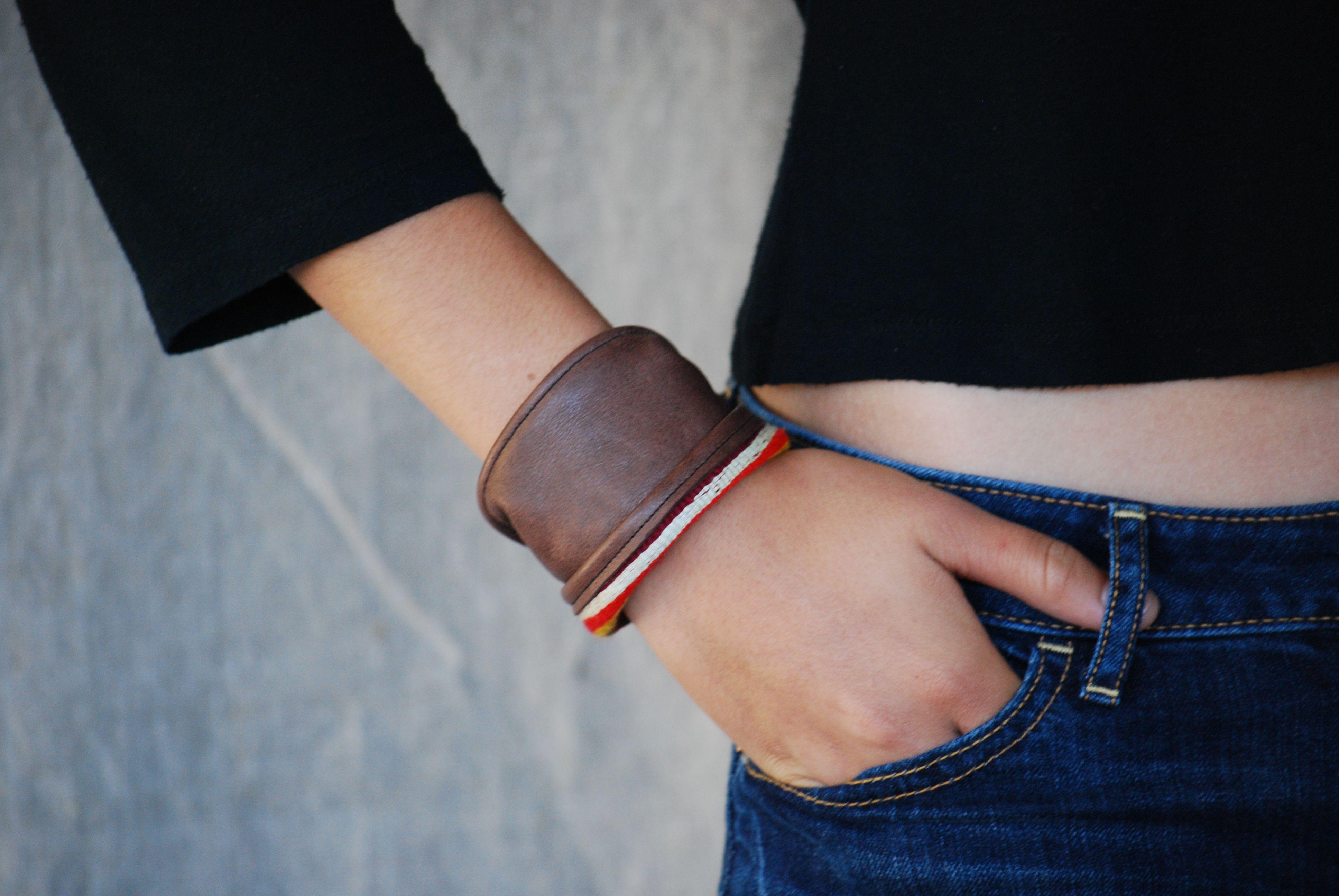 www.blackbirddagger.com. Repurposed leather w/ vintage material.